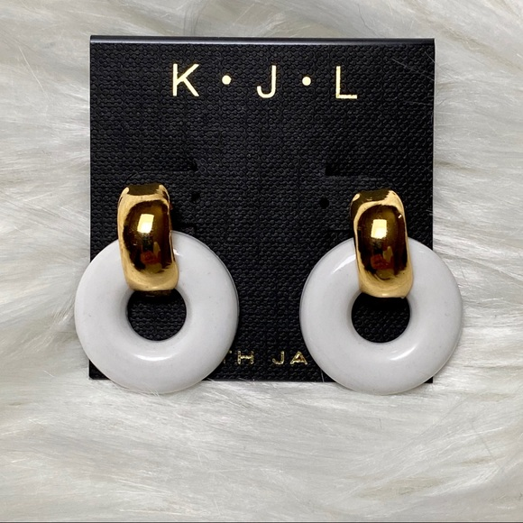 Kenneth Jay Lane post small door knocker earrings